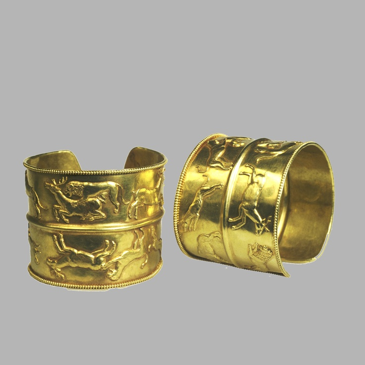 Bracelets/SARMATIAN,  2nd Century B.C.-1st Century A.D.     Gold: hammering, soldering, stamping