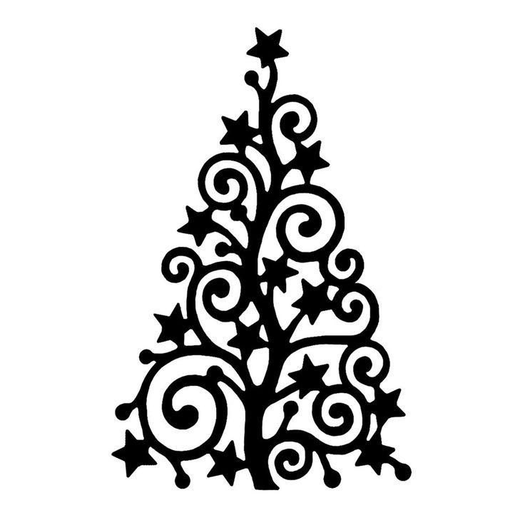 Crafty Individuals CI-368 - 'Starry Christmas Tree' Art Rubber Stamp, 60mm x 93mm - Crafty Individuals from Crafty Individuals UK