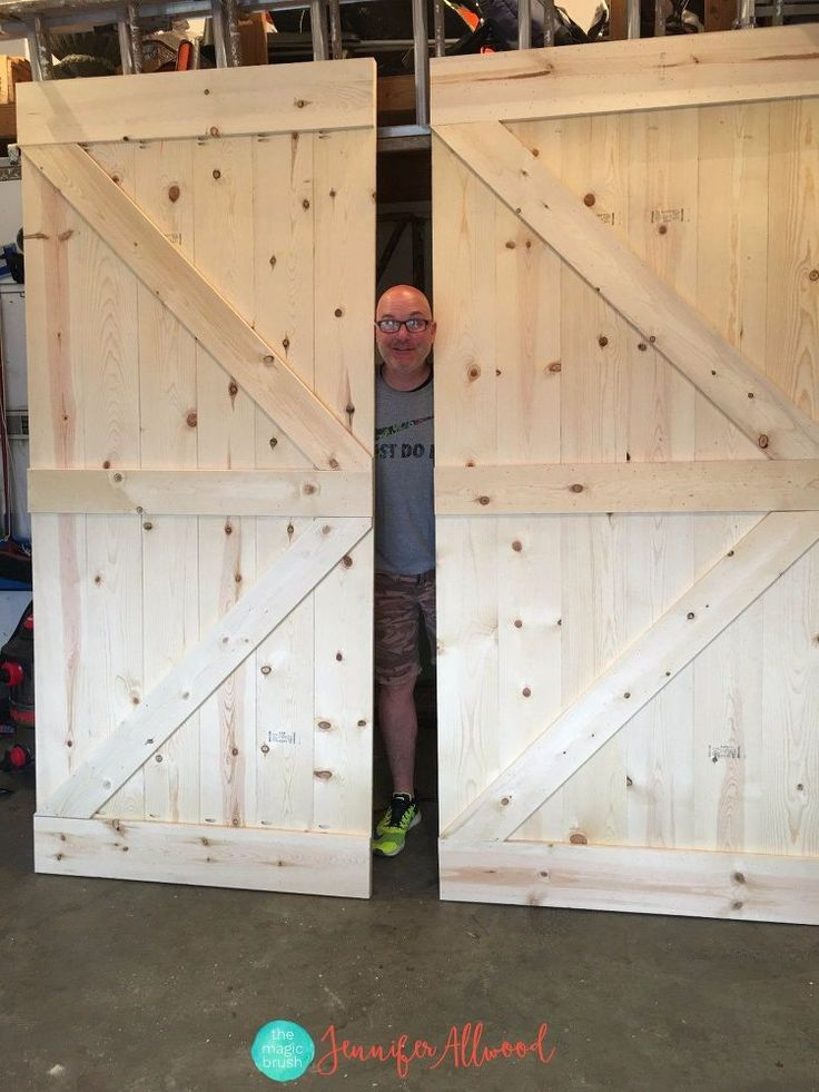 Most people think sliding barn doors cost thousands, but here's how you can get the same look for SO much less: