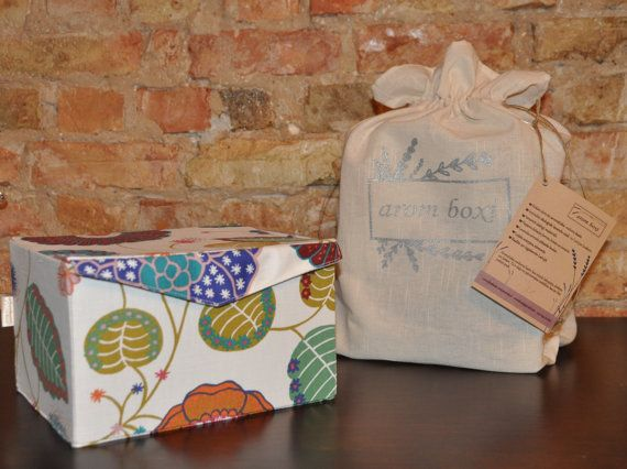 Storage box. Flower fabric box. Children memory box. Memories box.