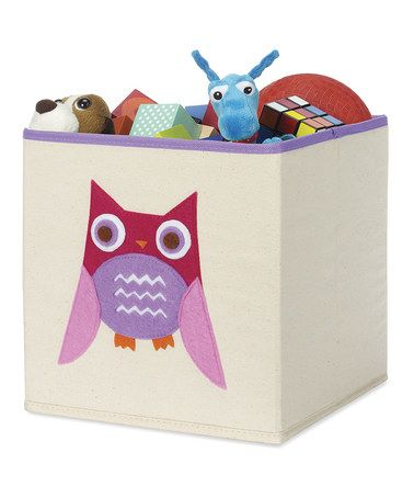 Another great find on #zulily! Pink Owl Collapsible Storage Cube #zulilyfinds
