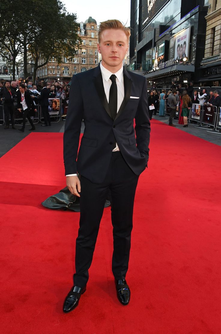 Jack Lowden in a Burberry suit at the BFI London Film Festival #lff