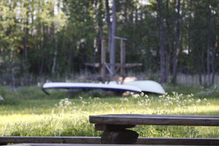 Wild camping in Linannsaari National Park, Saimaa Lake district, Finland