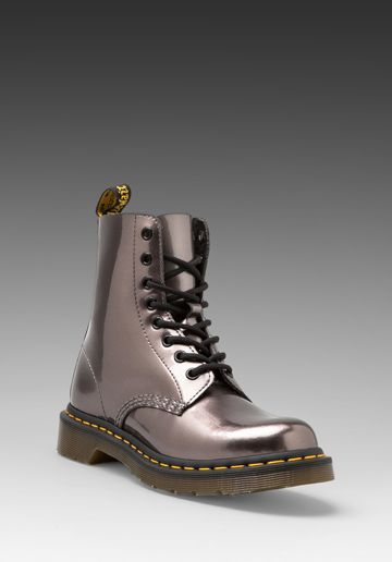 Dr. Martens Pascal 8-Eye Boot in Pewter