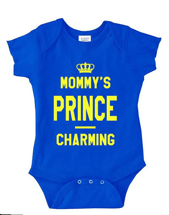Mommy's Prince Charming Royal Baby Boy Bodysuit Onesie by QTattoos
