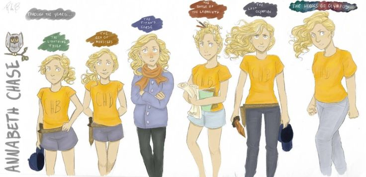Annabeth from ages 12-17