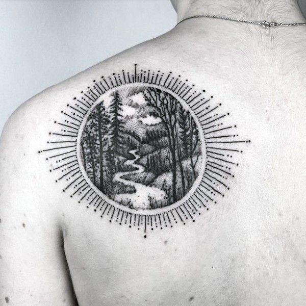 I love tattoo boarders that make it seem like the art is inside of you.