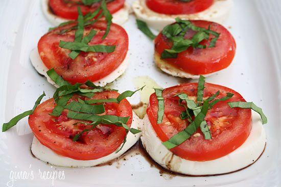Caprese Salad | Skinnytaste: Tomato, Caprese Salad, Fav, Food, Recipes, Salad Recipe, Appetizer, Fresh Mozzarella
