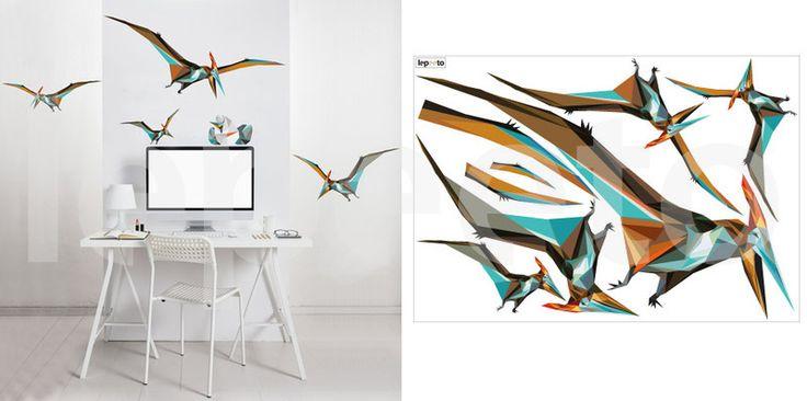 Pterosauři v letu - samolepky na zeď
