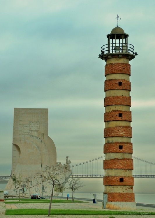 Lisbon, Portugal Lighthouse - I remember this! We were there when I was about 14 - 1962. My Dad was stationed in Paris.