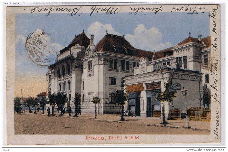 Buzau, Palatul Justitiei - magazin Masini Agricole si Croitorie / adresata Bijutier 2 scan !!!