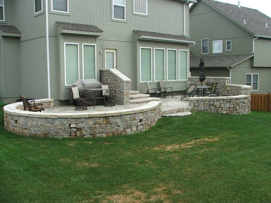 How To Build A Raised Patio Area By Front Door   Google Search
