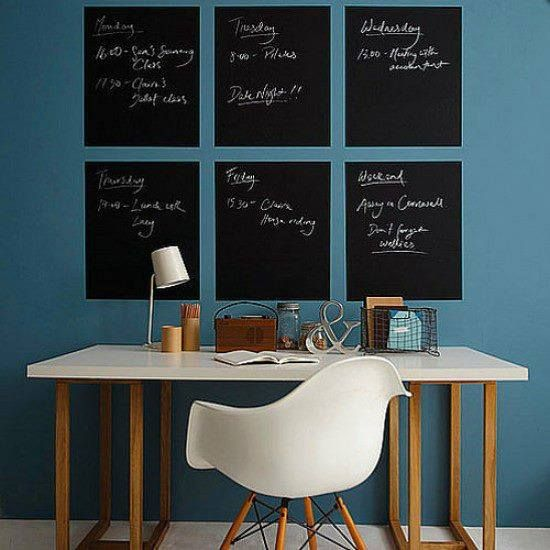 Be creative with the chalkboard sticker. 200cmX45cm Roll $25.00 CHALK BOARD help the Home; Office; Restaurant get organised, or for the children's pleasure of drawing. 1 Roll of black chalkboard removable wall sticker in size 200cm x 45cm. 5 pieces chalk set: 2 x white, 1 x blue; 1 x pink, 1 x yellow