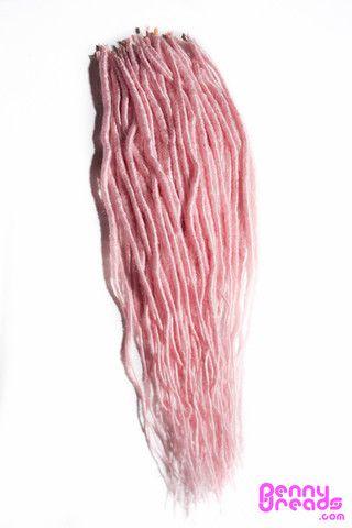 "Pink 24"" U-Tip Synthetic Dreadlocks (10 pieces) - 100% Kanekalon. – Penny Dreads & Wigs"
