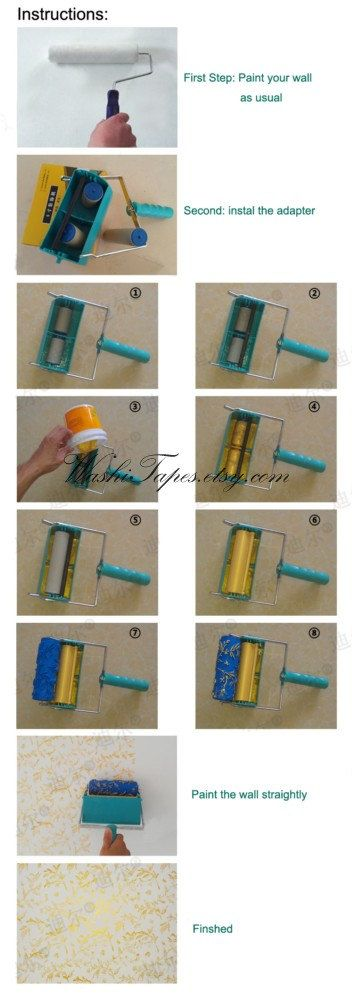 Patterned paint roller wall painting roller rubber by WashiTapes