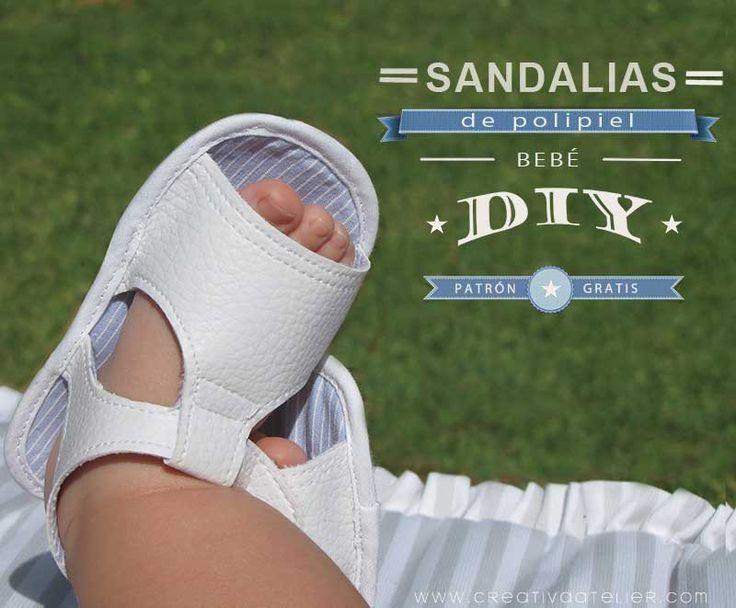 Tutorial paso a paso para confeccionar unas sandalias de #bebé de polipiel #DIY Baby Sandals