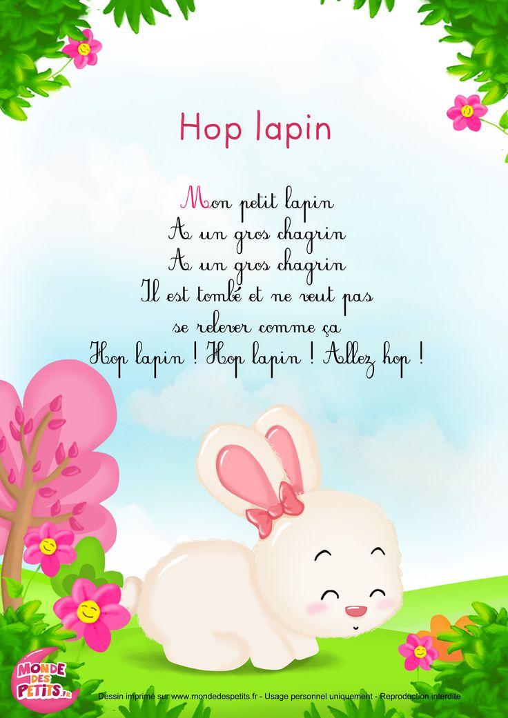 Paroles_Hop Lapin - Comptine pour les petits                                                                                                                                                                                 Plus