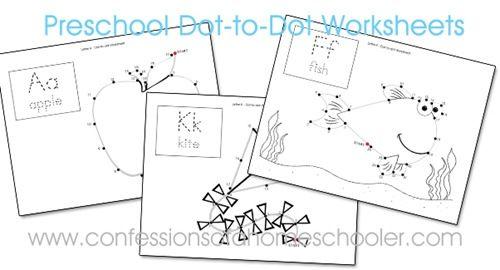 Preschool Dot-to-Dot Worksheets