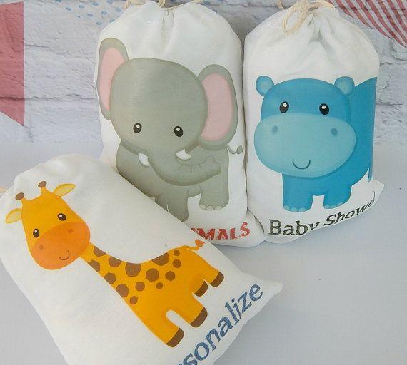 Bolsas de Favor animales de la selva para Baby por HelloCharleys