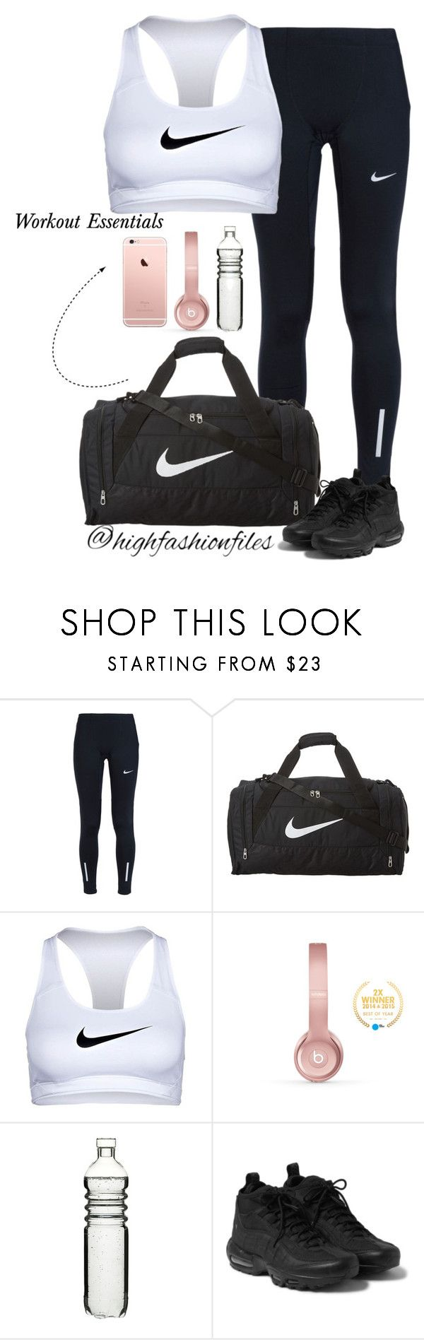 """""""Workout Essentials"""" by highfashionfiles ❤ liked on Polyvore featuring NIKE, Beats by Dr. Dre and Dot & Bo"""