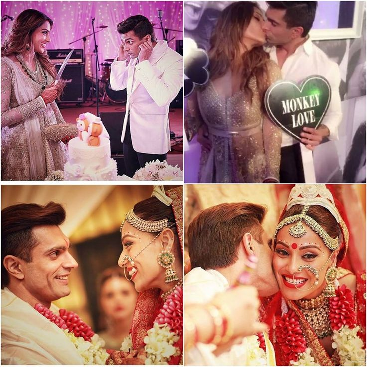 In Pictures: Karan Singh Grover kisses his blushing bride Bipasha