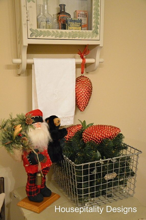 64 best christmas bathroom decor images on pinterest | christmas