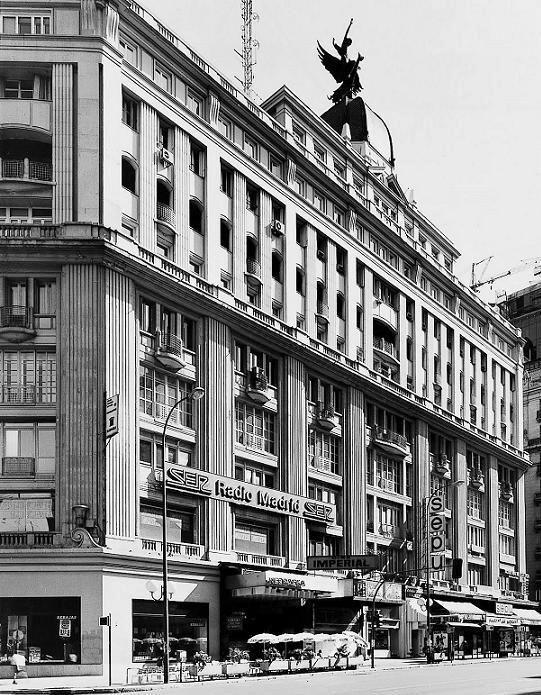 GRAN VIA CON LOS ALMACENES SEPU Y RADIO MADRID - CADENA SER - 1960