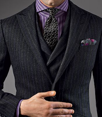 Paul Stuart - Wool Chalk Stripe Phillip Suit