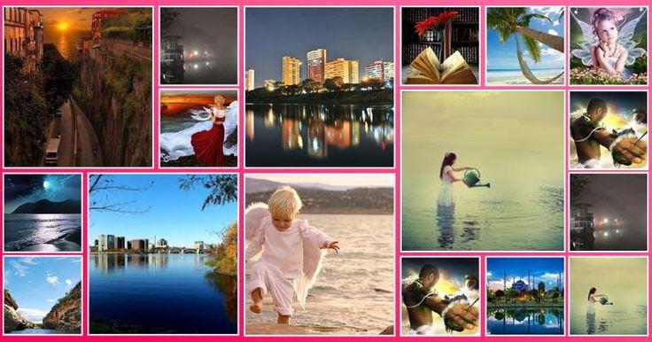 Mosaico de Fotos do Facebook com 17 fotos