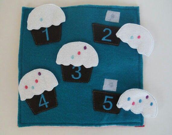 Quiet book - muffins 1-10