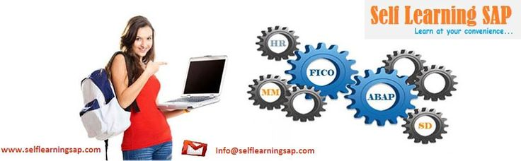 SAP Self Learning - Learn at your own pace. Online videos for the SAP Virtual videos and also for the Other SAP Technical & Functional Modules. SAP Course Details at visit --http://www.selflearningsap.com/   We have the training solutions for the modules like SAP SD, CRM, MM, ABAP, FICO, APO, WM, EWM, BO 4.1, HANA , ABAP Webdynpro & OOPs.   For the information on the courses we have please contact us at  Email: info@selflearningsap.com Website: http://www.selflearningsap.com