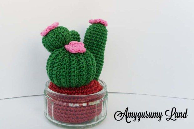 Cactus amigurumi - crochet -free pattern of Mary J handmade - Amygurumy Land