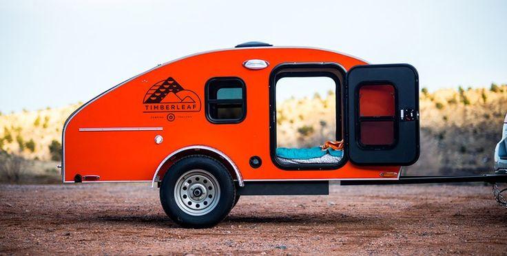 Timberleaf diseña una pequeñ caravana con forma de lágrima