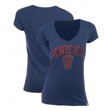 47 Brand Knicks Womens V-Neck Scrum T-Shirt [Royal]
