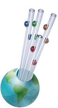 no need to use disposable plastic straws when you can use these cool glass ones made by Glass Dharma