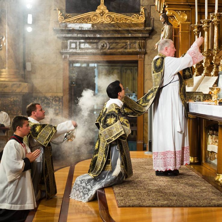 """""""Let the whole world tremble, let heaven exult, when Christ, son of the living God, is on the altar in the hands of a priest."""" - St. Francis of Assisi    #Quote #StFrancis #Requiem #AllSouls #HighMass #ExtraordinaryForm #Latin #LatinMass #CatholicMass #Pray #Prayer #Incense #Priest #Vestments #Eucharist #Consecration #tradition #beauty #Faith #ChicagoChurch #Church #Catholic #CatholicChurch #Chicago #WestTown #RiverWest #GooseIsland #Cantius #StJohnCantius"""