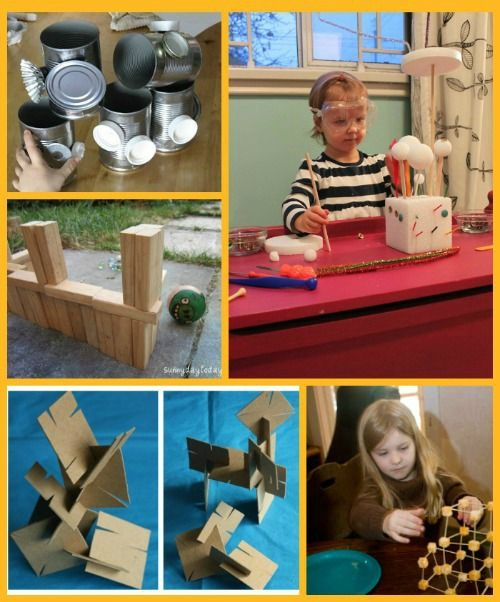 {12 Great Building Materials for Kids} - fun items kids can use to create, construct and engineer structures!