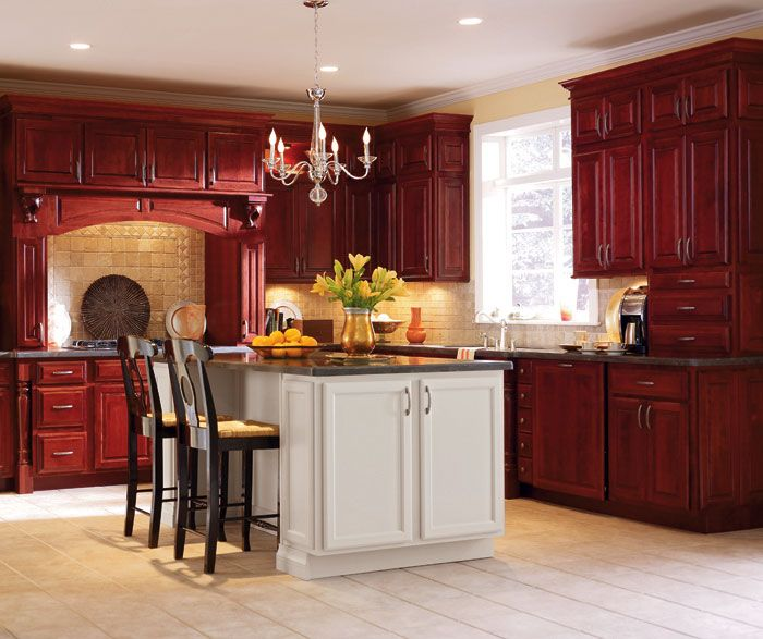 Red Cherry Wood Kitchen Cabinets: 37 Best Images About Vanities & Cabinets On Pinterest