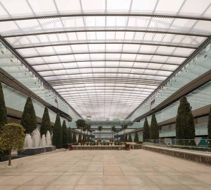 #Persian_Garden of #Iran_Mall is #covered with #ETFE and it has special characteristics which are: #Light-weighted  Easily #recyclable Long-lasting  Cost-effective to produce A low-energy manufacturing and transportation process  Performing well during natural disasters such as #earthquakes, and is self-extinguishing in case of fire; due to its #elasticity ‎#سازه_چادری #سایبان#ایران_مال#باغ_ایرانی#سازه_های_پارچه#_ای_دیبا #tensilestructure #tensile#ETFE