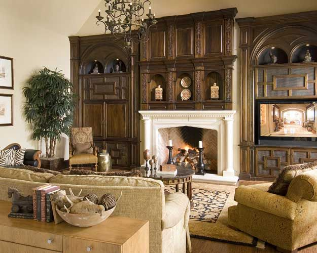 English Family Room Designed By Tracy Rasor, Dallas Design Group Interiors,  And Built By