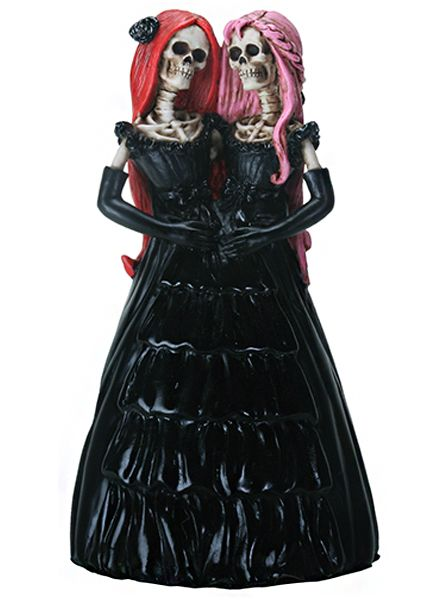 Skelamese Twins Statuette by Summit Collection