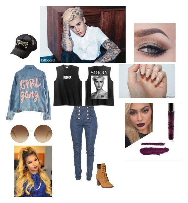 """Purpose tour 0.3"" by lauraespinosa00 ❤ liked on Polyvore featuring Justin Bieber, Balmain, Timberland, High Heels Suicide and Victoria Beckham"
