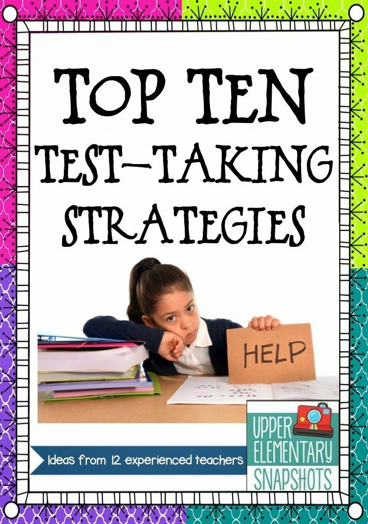 FREE BLOG POST IDEAS!!!-  Top Ten Test-Taking Strategies- awesome ways to prep your students for THE TEST!  Designed by Rockin Resources