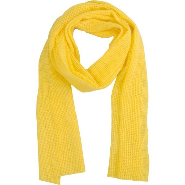 Gentryportofino Oblong Scarf ($86) ❤ liked on Polyvore featuring accessories, scarves, yellow, yellow scarves, long scarves, cashmere shawl, long shawl and oblong scarves
