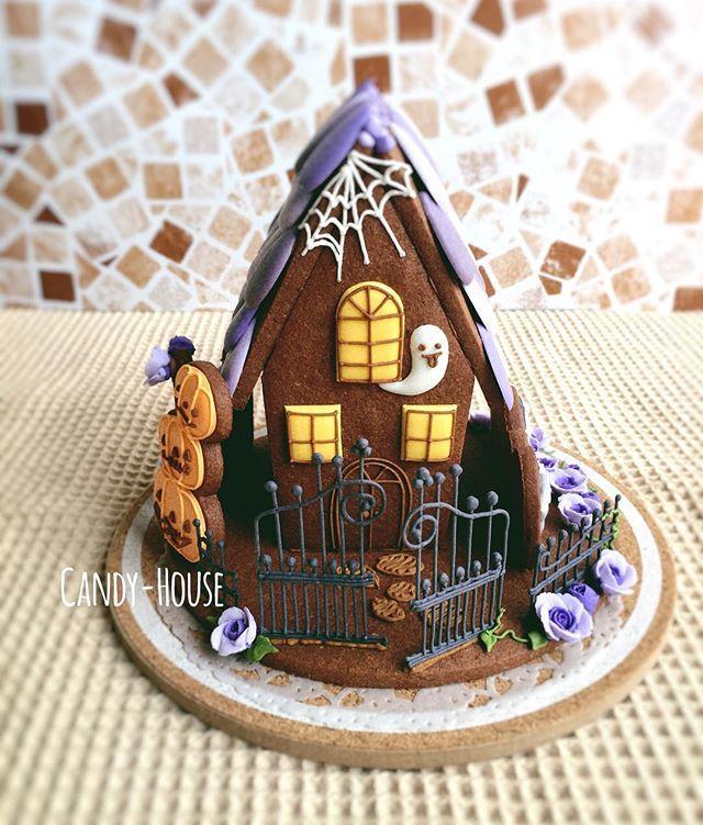 ❥Halloween | haunted gingerbread house