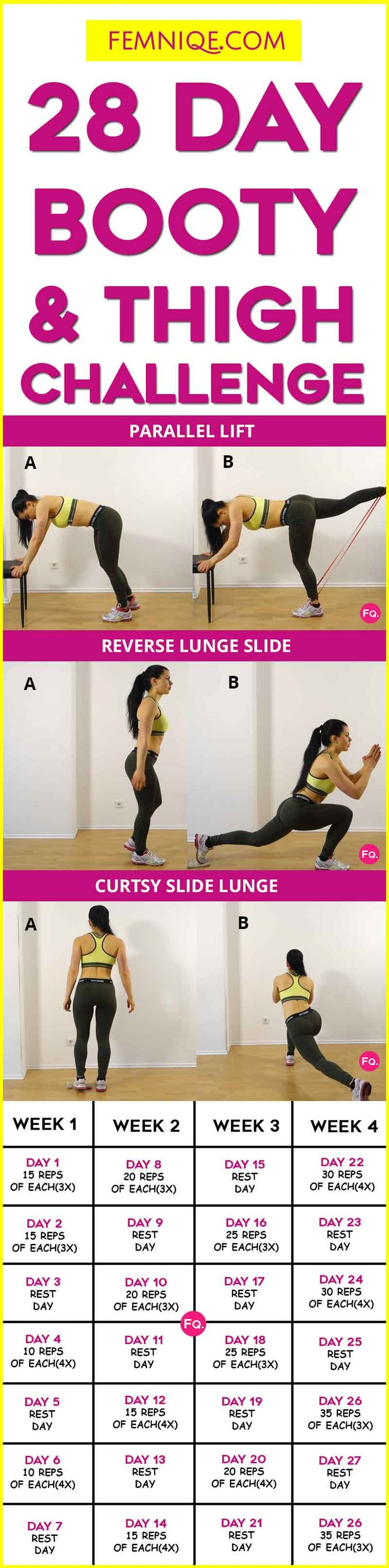 Have that special beach party or vacation coming up and want to sexify your booty and thighs? Then we have the right challenge for you. This 28 day butt and thigh workout challenge will sculpt your thighs, and lift and firm up those glutes. Now this challenge is moderately challenging in a way that will … Read More →