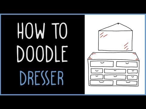 How to doodle dresser with a mirror - IQ Doodle