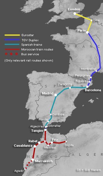 morocco rail fares journey times