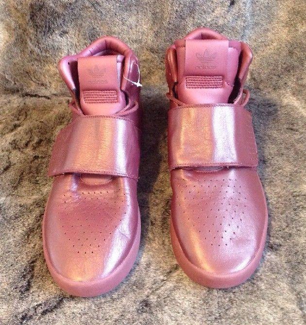NEW!  ADIDAS Tubular Invader Strap Maroon / Burgundy / Men's Size 10 #adidas #AthleticSneakers