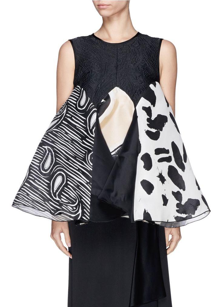 ELLERY - 'Boyce' paisley cloqué silk organza swing top | Multi-colour Vests/Tanks Tops